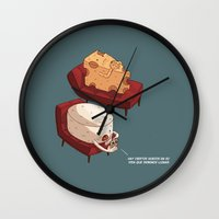 psychology Wall Clocks featuring Chessy goes to Psychology  by ivanov1ch