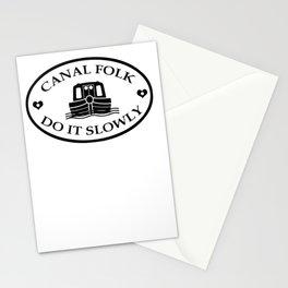Canal folk do it slowly bywhacky Stationery Cards
