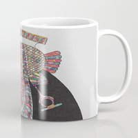 egyptian Mugs featuring EGYPTIAN GODDESS by Bianca Green