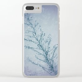 Seeds of Weeds in Vintage Blue Clear iPhone Case