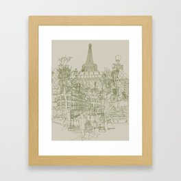 Paris! Musty Framed Art Print