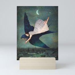fly me to paris Mini Art Print