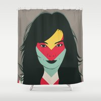 bjork Shower Curtains featuring BJORK by Mamut