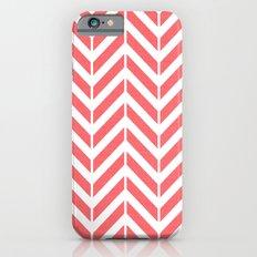 Coral Broken Chevron Slim Case iPhone 6s