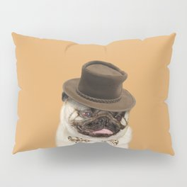 Dog pug with hat Pillow Sham