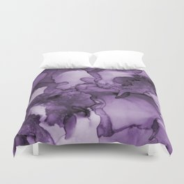Color me purple- Abstract Painting Duvet Cover