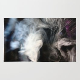painting with Smoke - peacock feather Rug