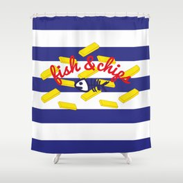 Fish & Chips Shower Curtain