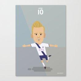 The Tens   Harry Kane - Tottenham Hotspur Canvas Print