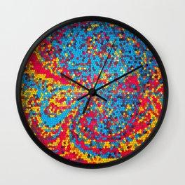 Vibrant abstract artwork Wall Clock