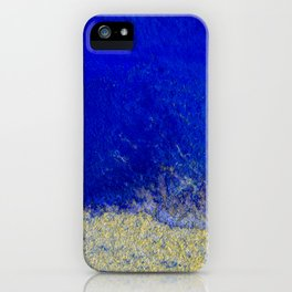 Blue and Gold #3 iPhone Case