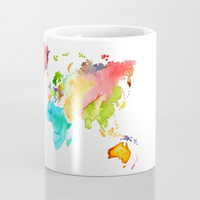 Watercolor World Coffee Mug