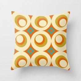 Mid-Century Modern Orange Throw Pillow