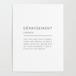 Dépaysement Definition Poster
