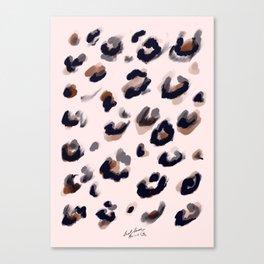 Blush and Leopard Print Canvas Print
