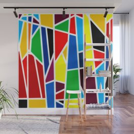 Geometric Shapes - bold and bright Wall Mural