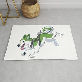 Green Husky Running Rug