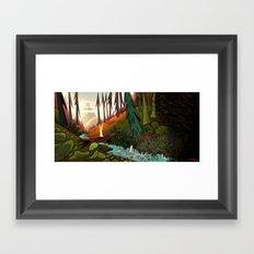 Watership Down (II) Crop Framed Art Print