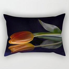 Red Tulip in the Mirror Rectangular Pillow
