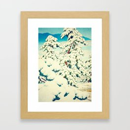 A Morning in the Snow Framed Art Print