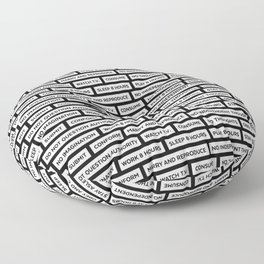 They Live We Sleep Texture Floor Pillow