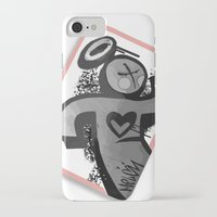 sticker iPhone & iPod Cases featuring Sticker Society by MelonJames