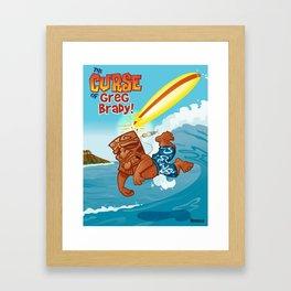 Curse of Greg Brady Framed Art Print