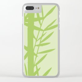 Green Bamboo Drawing Clear iPhone Case