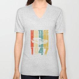 Vintage Retro 1947 T-Shirt Unisex V-Neck
