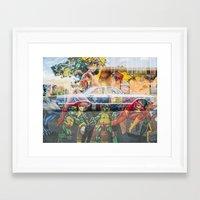superhero Framed Art Prints featuring Superhero by Amanda Bausk