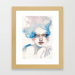 In The Shallows (Water Nymph) Framed Art Print