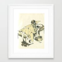 doctor Framed Art Prints featuring doctor by chechula