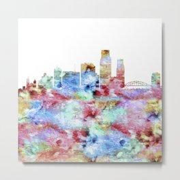 Corpus Christi City Skyline Metal Print