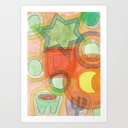 Various Things lit by the Moon Art Print