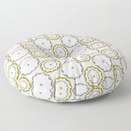 Gold and Silver Rings Polka Dot Pattern Floor Pillow