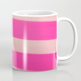 Modern Abstract Magenta Pink Stripes Brushstrokes Coffee Mug