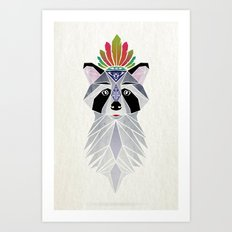 raccoon spirit Art Print