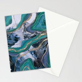 Liquid Marble Agate Glitter Glam #7 (Faux Glitter) #decor #art #society6 Stationery Cards