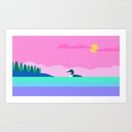 Common Loon Passamaquoddy Bay, Eastport, Maine Art Print