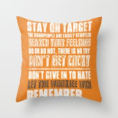 What I've learned from Star Wars Throw Pillow