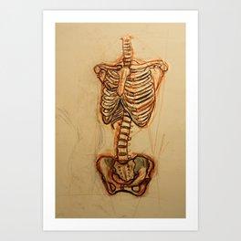 Skeletal Art Print