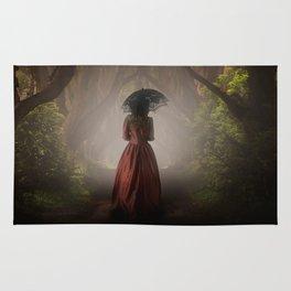 Satin red dress Rug