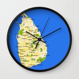 Sri Lanka Map Design Wall Clock
