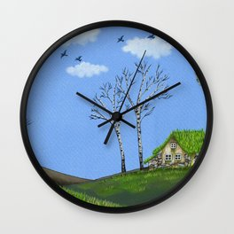 Dream Refuge Wall Clock