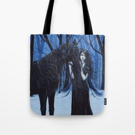 Midnight Travelers Gothic Fairy and Unicorn Tote Bag