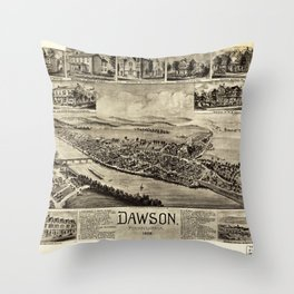Aerial View of Dawson, Pennsylvania by T.M. Fowler (1902) Throw Pillow