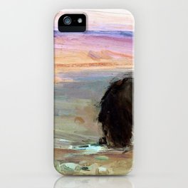 Lion drinking - Digital Remastered Edition iPhone Case