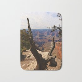 Grand Canyon View Through Dead Tree Bath Mat