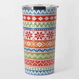 Fair Isle Multicolor Travel Mug