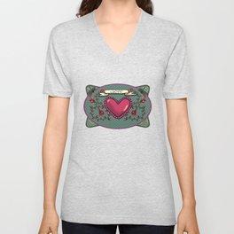 love  and heart Unisex V-Neck